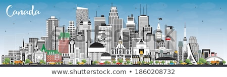 Toronto horizonte gris edificios cielo azul espacio de la copia Foto stock © ShustrikS