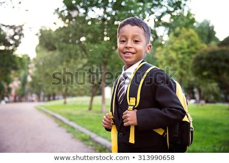 Schuluniform Illustration Schule glücklich Kinder Stock foto © bluering