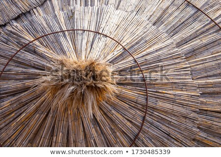 The texture of the gatural straw. Canopy from the sun. Stock photo © ElenaBatkova