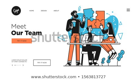 Corporate website concept vector illustration. Stock photo © RAStudio