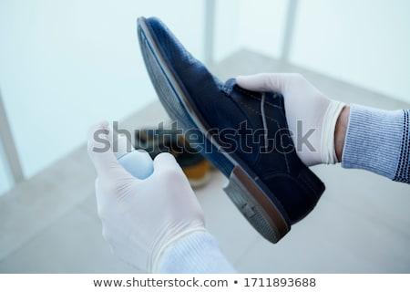 Adam ayakkabı mavi Stok fotoğraf © nito