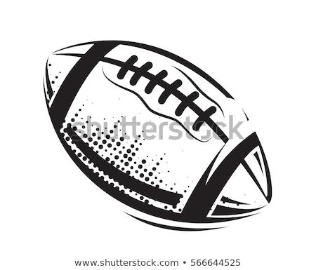 アメリカン サッカー 黒 フィールド 実例 フットボールの競技場 ストックフォト © enterlinedesign