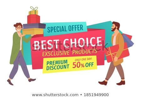 Prémium termék exkluzív áru vásár árengedmény Stock fotó © robuart