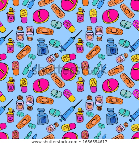 Pediatrics Medical Seamless Pattern Vector Stock photo © pikepicture