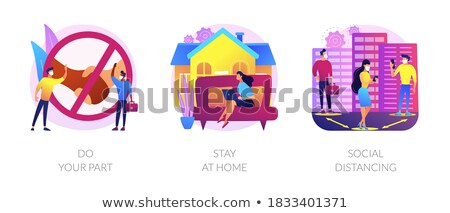 Covid19 outbreak prevention measures abstract concept vector illustrations. Stock photo © RAStudio