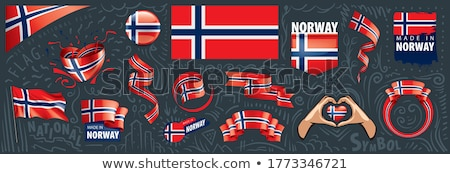 Vector set of the national flag of Norway in various creative designs Stock photo © butenkow