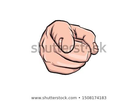 Komik parmak makas amca el pop art Stok fotoğraf © designer_things