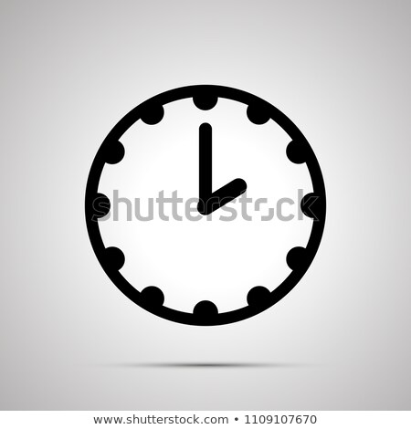 Clock face showing 2-00, simple black icon on white Stock photo © evgeny89