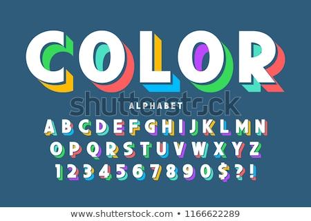 Brillante lenguaje de signos alfabeto cartas blanco aislado Foto stock © evgeny89