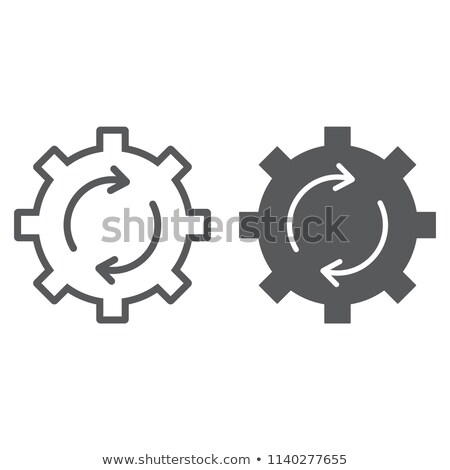 Single Gear Simple Vector Icon, Cog Wheel Pictogram, Settings Symbol Stock photo © supertrooper