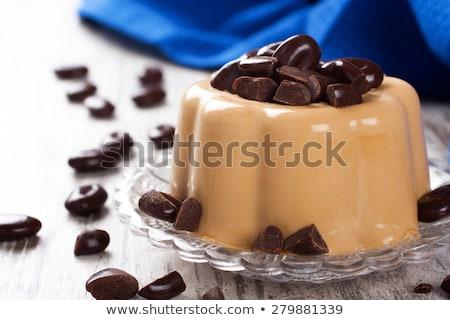 Coffee panna cotta with chocolate candies Stock photo © Melnyk