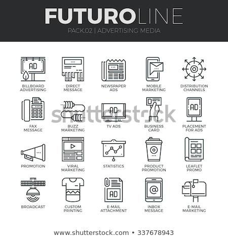 Открытый СМИ реклама рекламный вектора Сток-фото © pikepicture