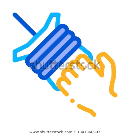 Kite touw icon vector schets illustratie Stockfoto © pikepicture