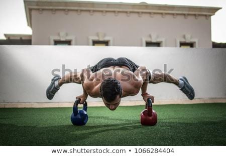 Fitness człowiek pompek trening siłowy ciało Zdjęcia stock © Maridav