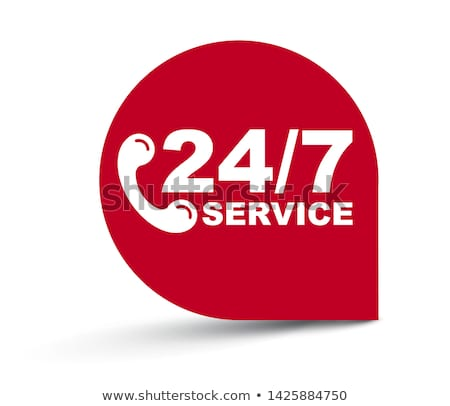 24 hour service background with clock design Stock photo © SArts