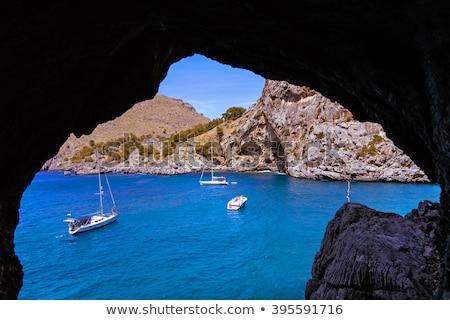 Сток-фото: мнение · пещере · Майорка · острове · якорь · Парусники