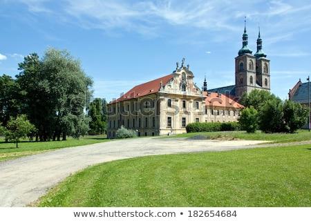 Kolostor Csehország épület építészet történelem szabadtér Stock fotó © phbcz