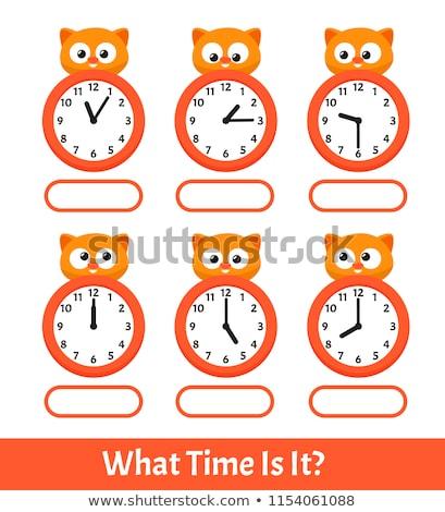 zaman · öğrenmek · saat · beyaz · sözler · okul - stok fotoğraf © kbuntu