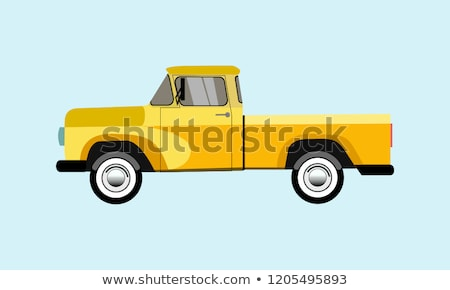 old yellow pick up stock photo © paha_l