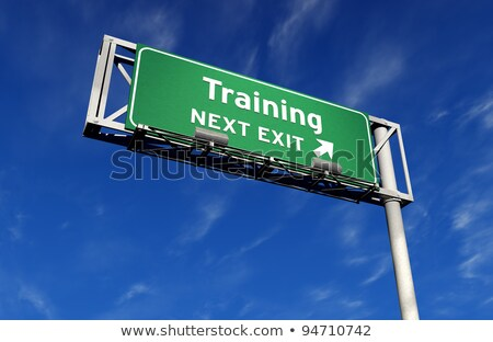 education   freeway exit sign stock photo © eyeidea
