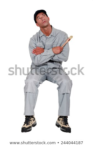 craftsman painter looking up stock photo © photography33