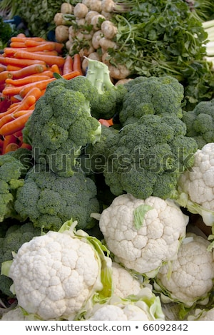 Cauliflower and carrots in the market Stock photo © nuttakit