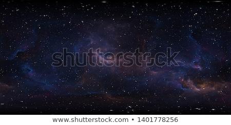 étoiles · bleu · homme · ciel · main · silhouette - photo stock © galyna