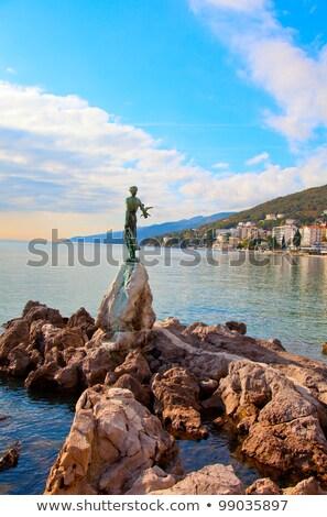 морской · пейзаж · Хорватия · скульптуры · женщину · морем · пляж - Сток-фото © blanaru
