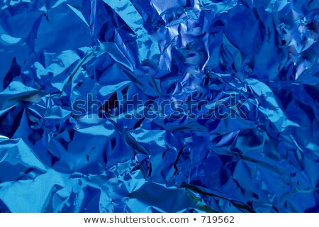 Shiny Blue Foil Background Reflective Bumpy And Crinkled  Stock photo © stuartmiles