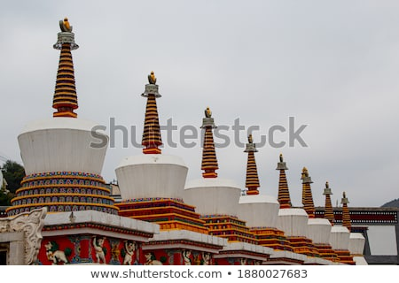 White tower in a Tibetan lamasery Stock photo © bbbar