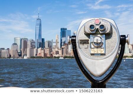 Nova Iorque linha do horizonte manhattan ver edifício paisagem Foto stock © nikdoorg