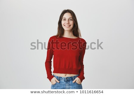 Stock photo: Woman In A Red Jumper