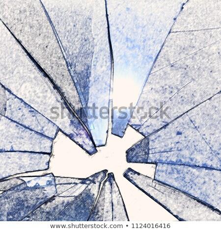 Napfény törött üveg égbolt épület háttér ablak Stock fotó © sirylok