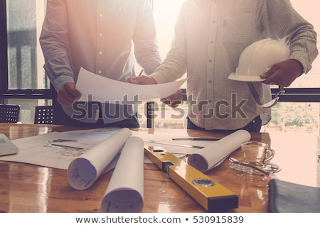 Builder constructing a house Stock photo © photography33