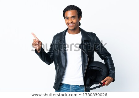 young man with first motorcycle stock photo © photography33
