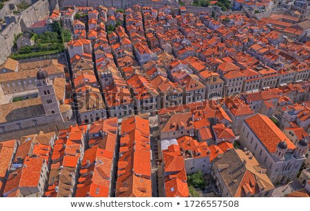 dubrovnik old city street plaza stradun croatia stock photo © vladacanon
