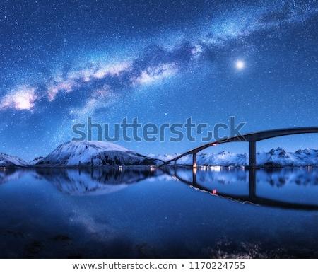 Ponte paisagem Noruega alto europa edifício Foto stock © gewoldi