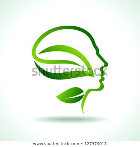 Zakenman boom hoofd vector groene boom man Stockfoto © beaubelle