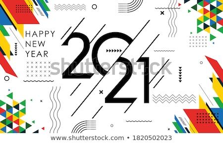 Gelukkig nieuwjaar doodle groot af Stockfoto © jeremywhat