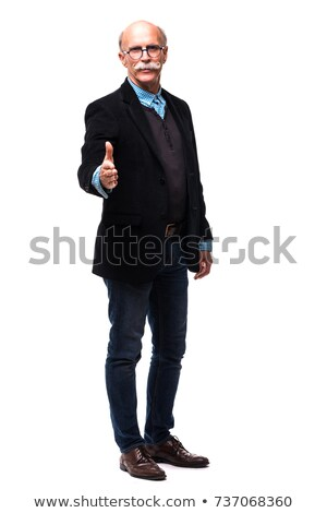 joyous businessman extending his hand stock photo © stockyimages
