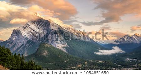 sunset mount rundle stock photo © pictureguy