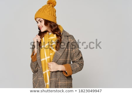 Gray winter scarf Stock photo © elenaphoto