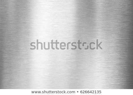 Brushed metal plate Stock photo © zeffss