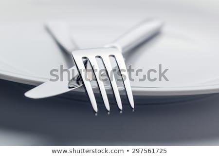 приборы ресторан таблице фон вилка Сток-фото © ElinaManninen