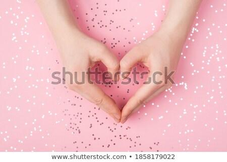Różowy konfetti serca kształt serca walentynki Zdjęcia stock © wavebreak_media