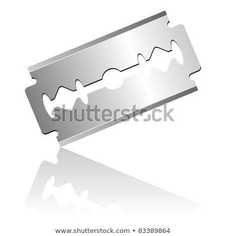 Ustura bıçak beyaz yalıtılmış araç demir Stok fotoğraf © shutswis