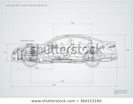 Drawing a car. Stock photo © snyfer