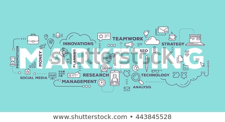 Marketing concept in word tag cloud Stock photo © michaklootwijk