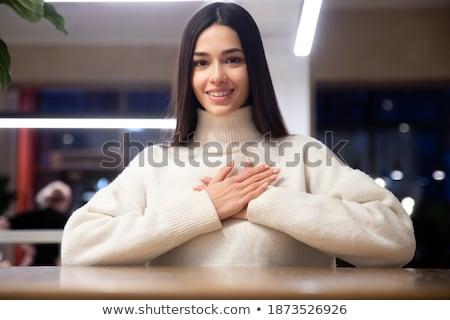 女性 · 首 · 画像 · 美人 · 笑顔 · 美 - ストックフォト © feedough