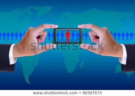 стороны мобильных вербовка право человека человека Сток-фото © tungphoto